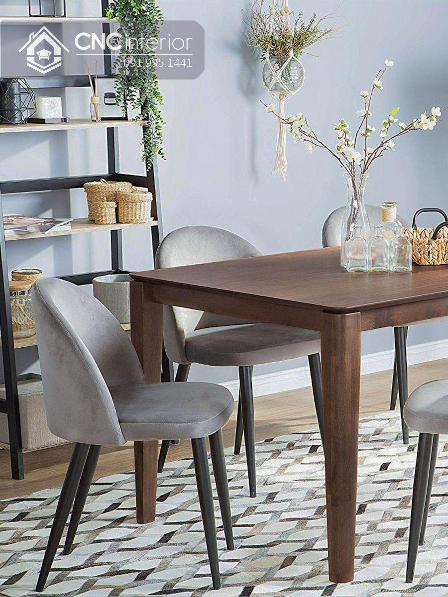 Bộ bàn ăn đẹp CNC 07