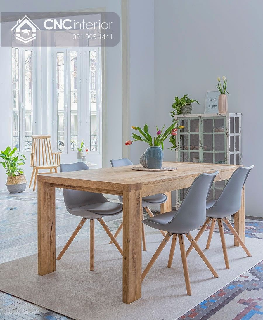 Bộ bàn ăn đẹp CNC 18-2
