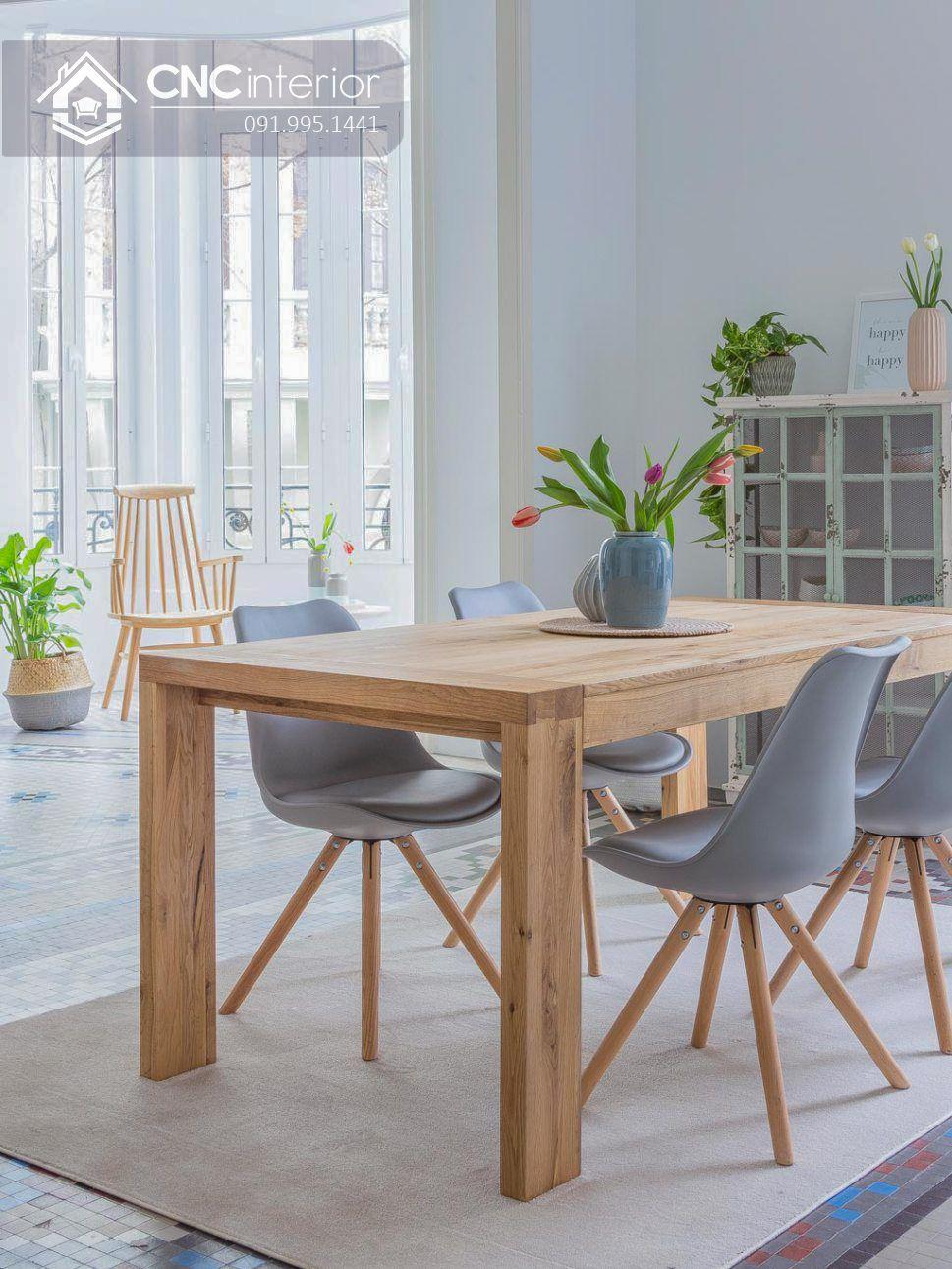 Bộ bàn ăn đẹp CNC 18
