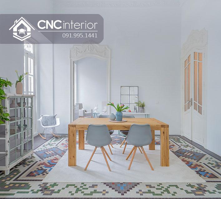 Bộ bàn ăn đẹp CNC 18-3