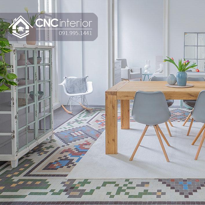 Bộ bàn ăn đẹp CNC 18-4