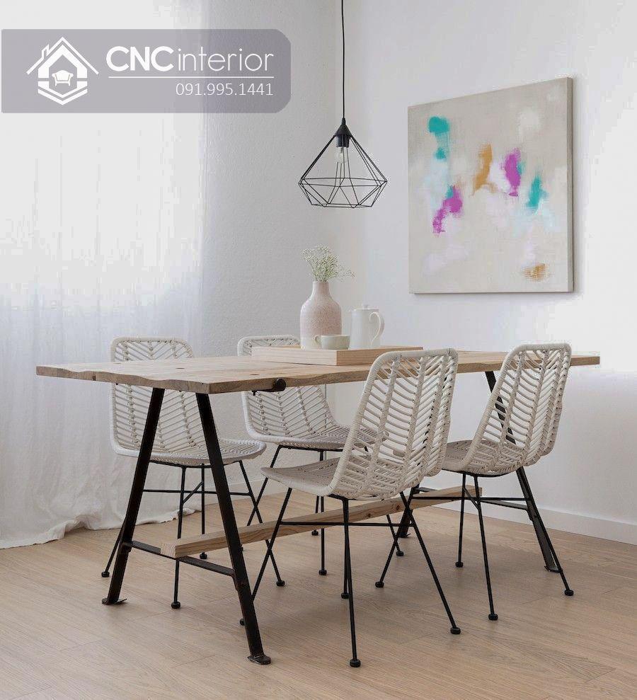 Bộ bàn ăn đẹp CNC 19