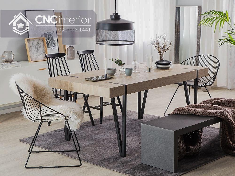 Bộ bàn ghế ăn cơm độc đáo CNC 26