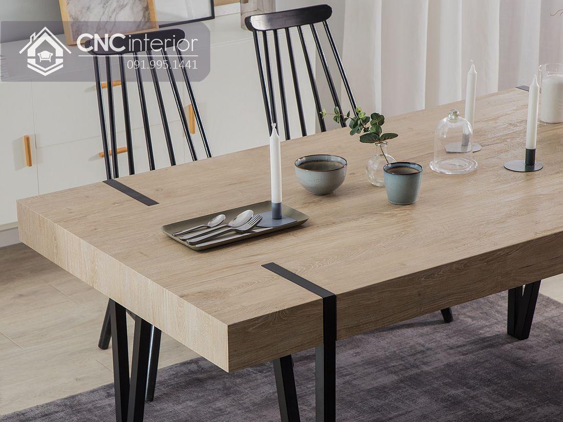 Bộ bàn ghế ăn cơm độc đáo CNC 26 1