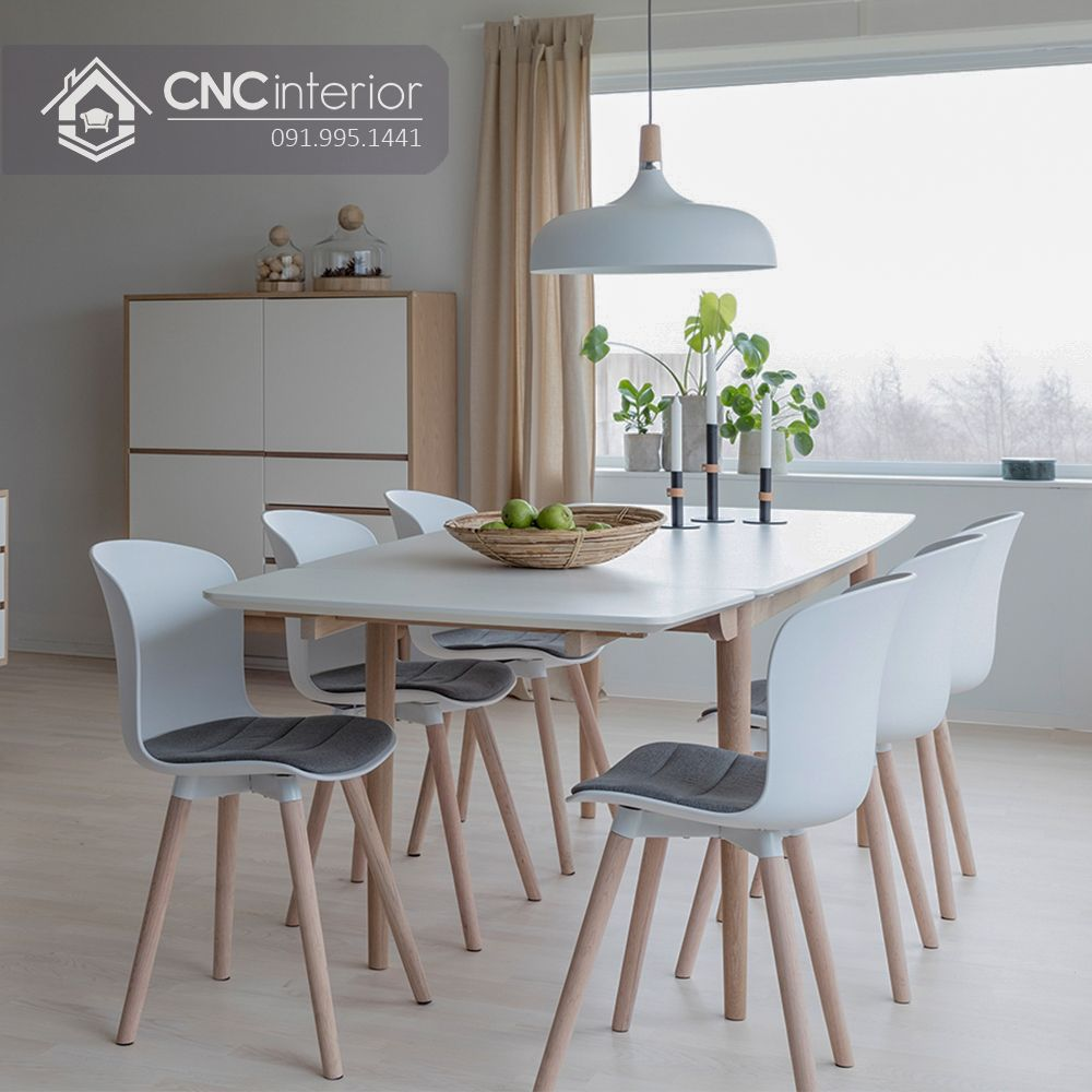 Bộ bàn ăn đẹp CNC 28