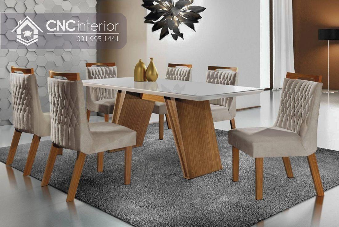 Bộ bàn ghế phòng ăn sang trọng CNC 29