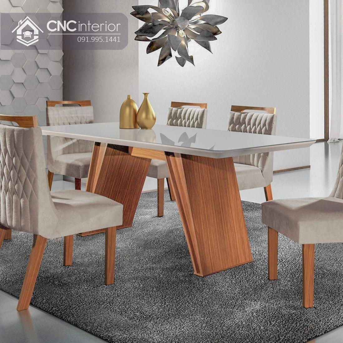 Bộ bàn ghế phòng ăn sang trọng CNC 29 1
