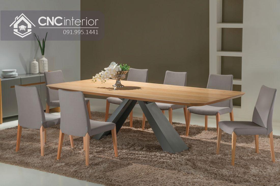 Bộ bàn ăn đẹp CNC 04