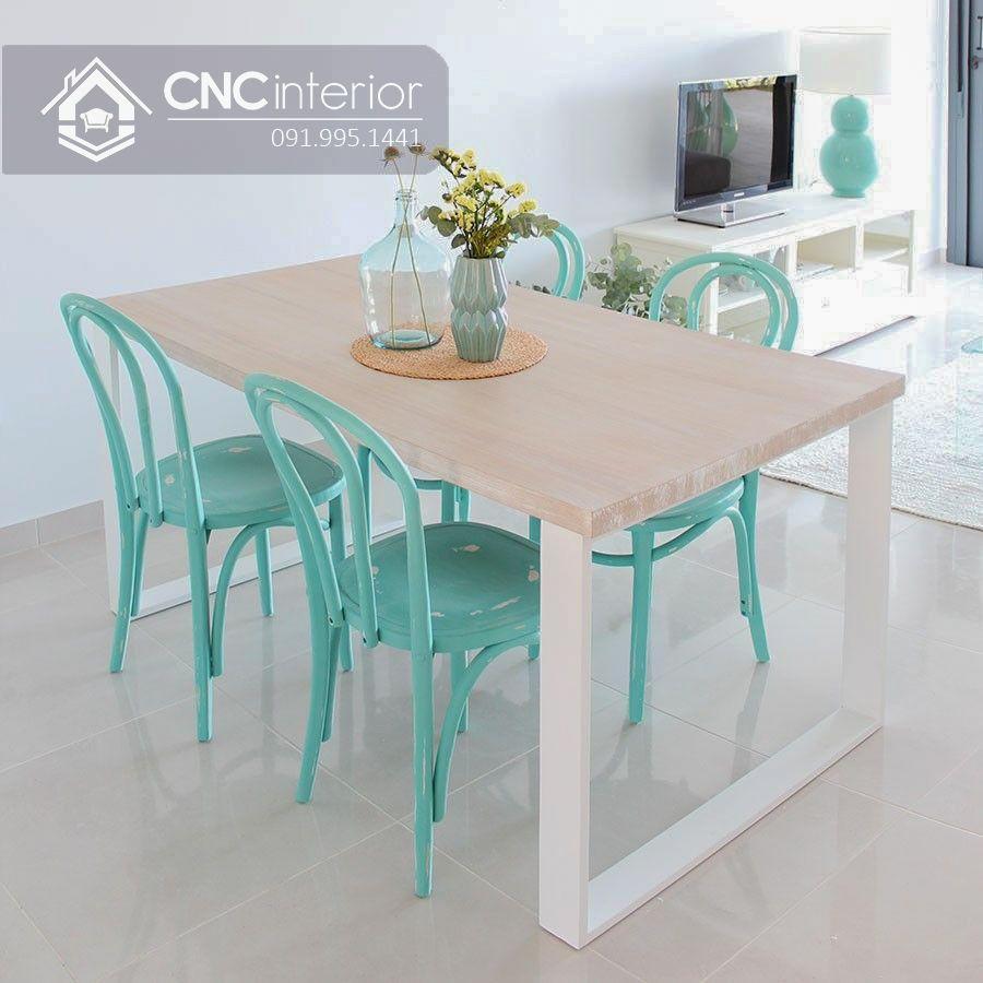 Bộ bàn ăn đẹp CNC 34