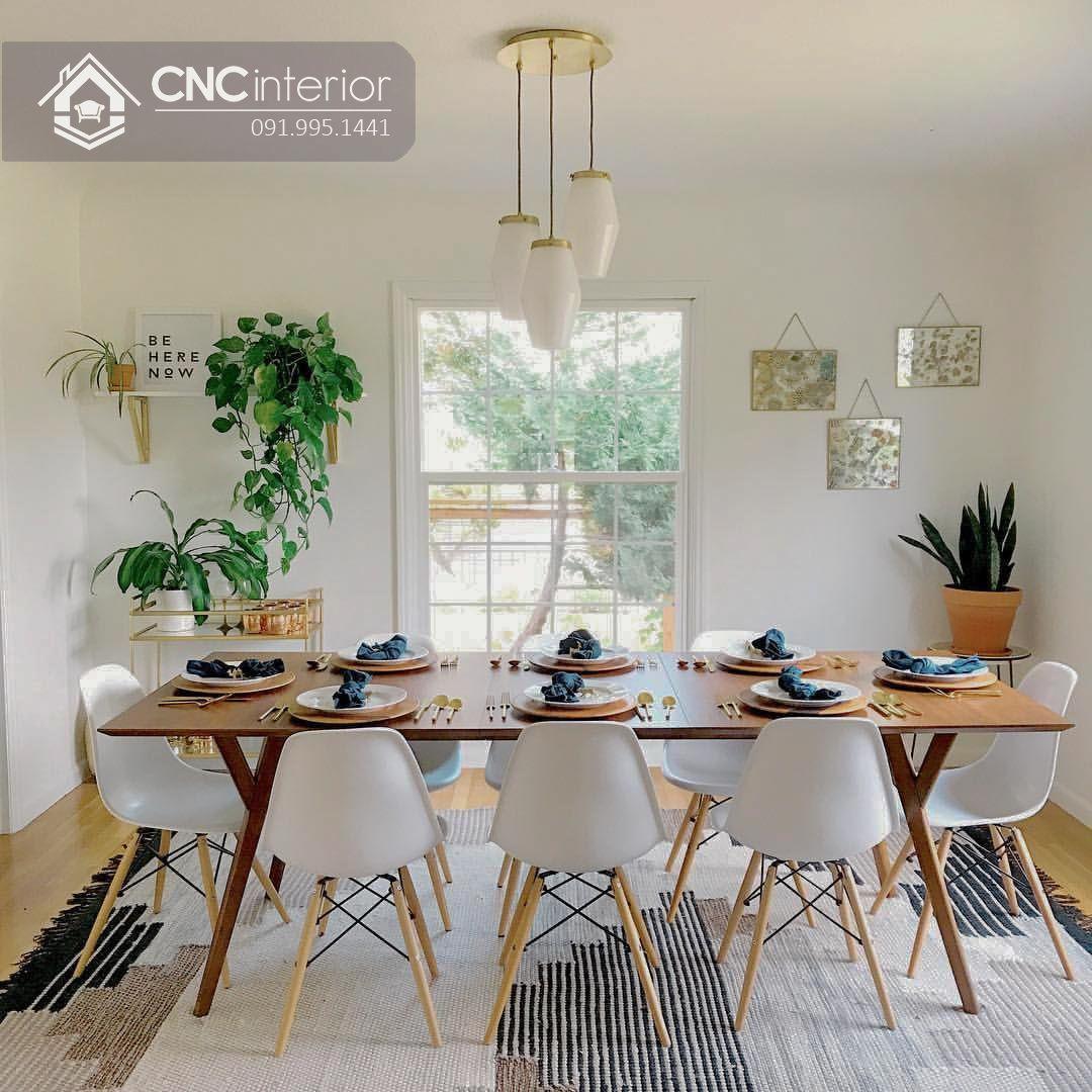 Bộ bàn ăn 8 ghế gia đình CNC 38