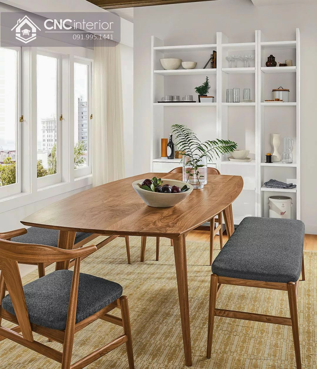 Bộ bàn ăn đẹp CNC 40