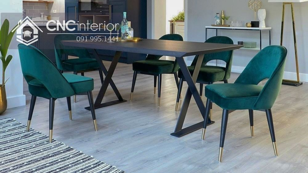 Bộ bàn ăn 6 ghế hiện đại CNC 43 1