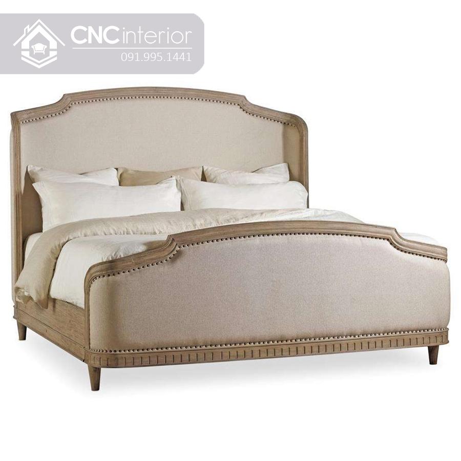 Giường ngủ gỗ sồi phong cách tân cổ điển CNC 22 2
