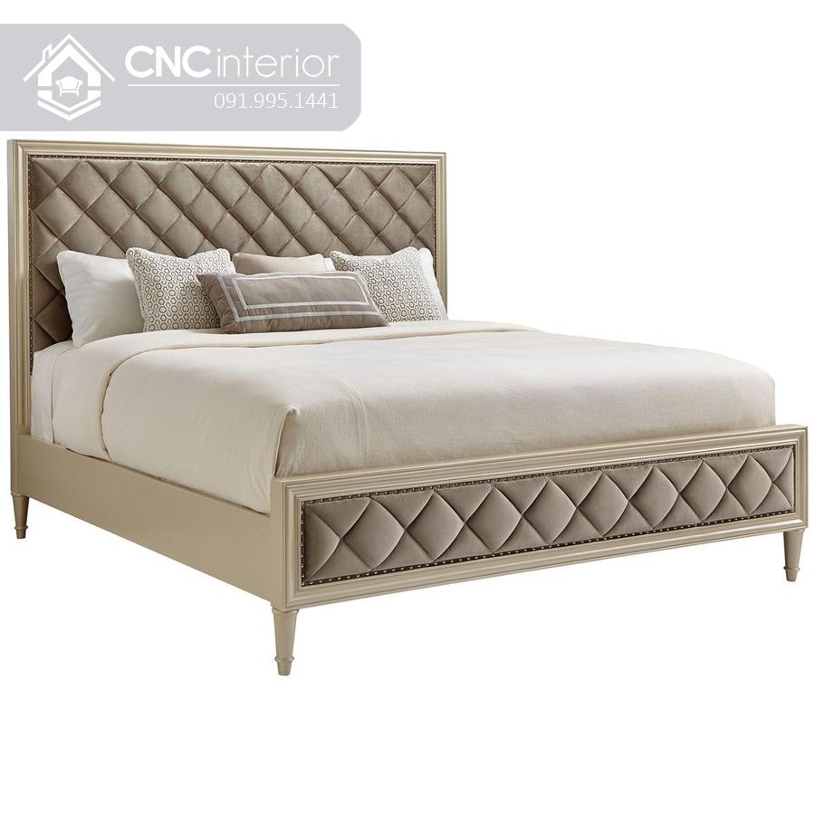 Giường ngủ phong cách tân cổ điển sang trọng CNC 27