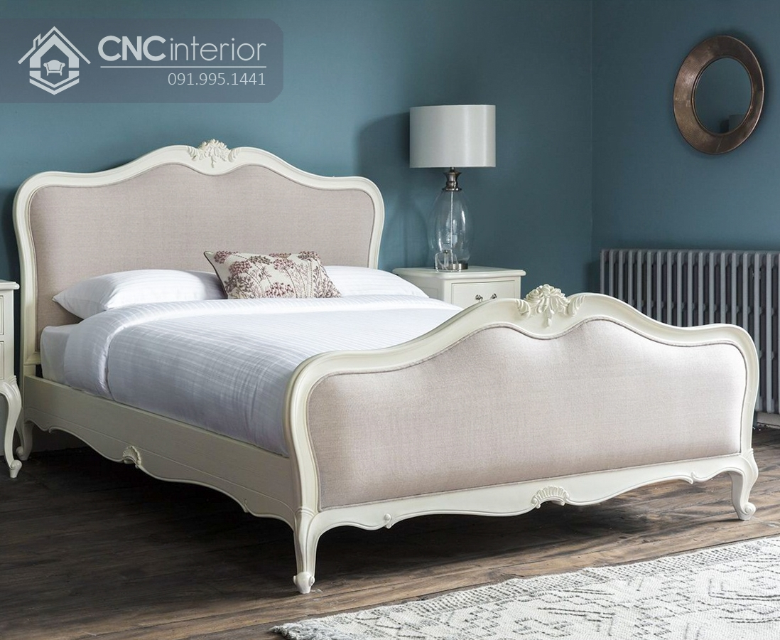 Giường gỗ sồi tự nhiên cao cấp sang trọng CNC 30 1