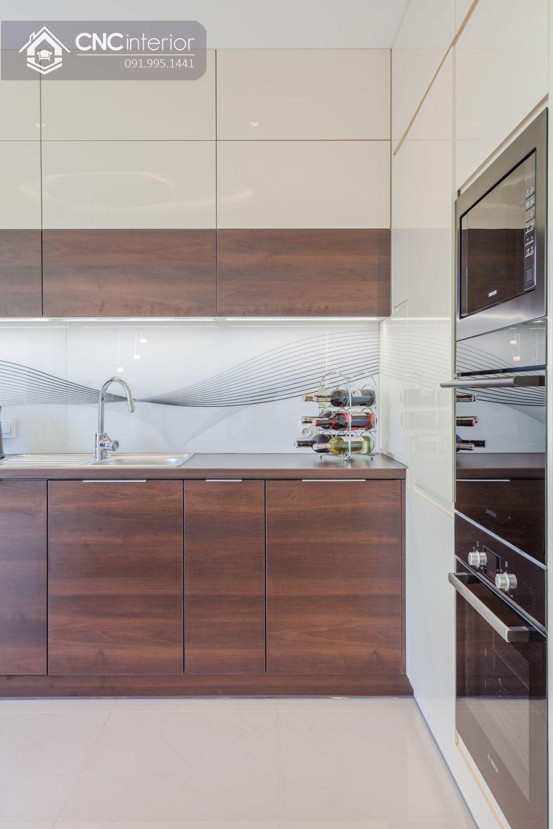 Tủ bếp bằng gỗ công nghiệp bền chắc CNC 33 1