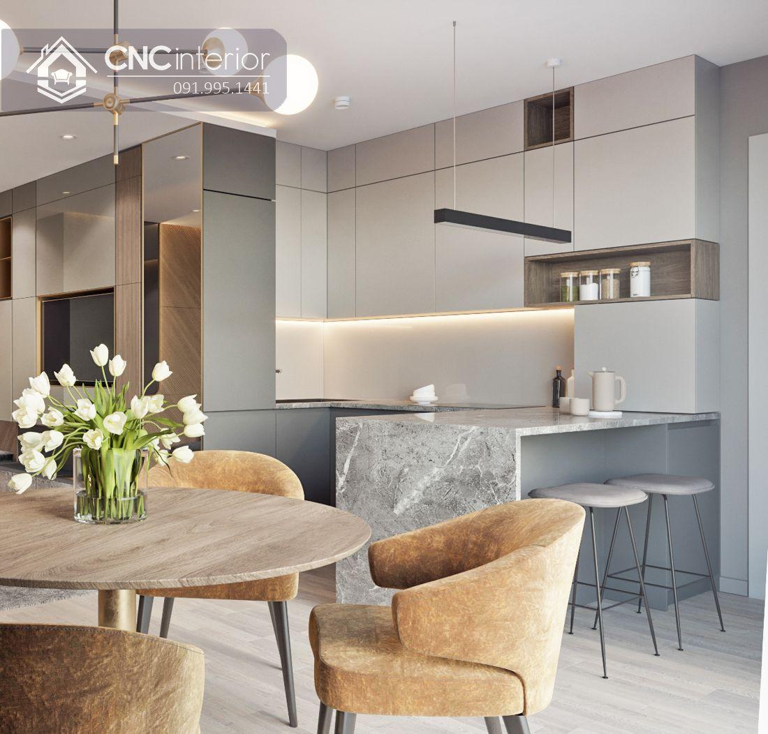 Tủ bếp đẹp hiện đại có quầy bar CNC 22 3