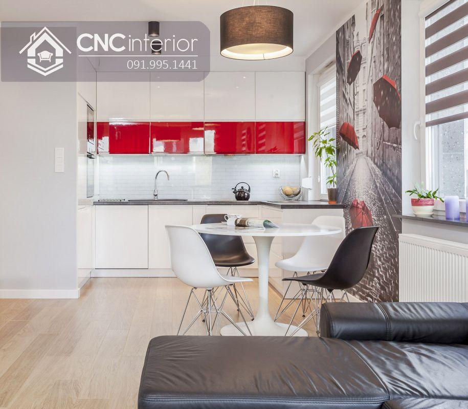 Tủ bếp acrylic đẹp sang trọng CNC 31