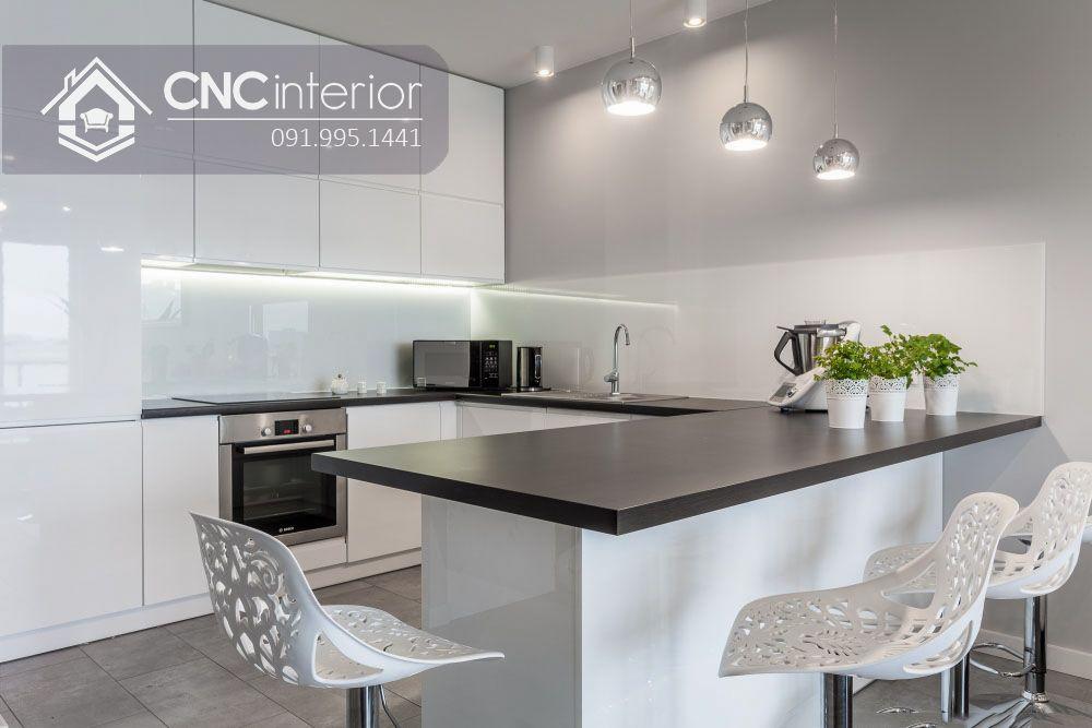 Tủ bếp nhỏ gọn đẹp hiện đại CNC 30 2