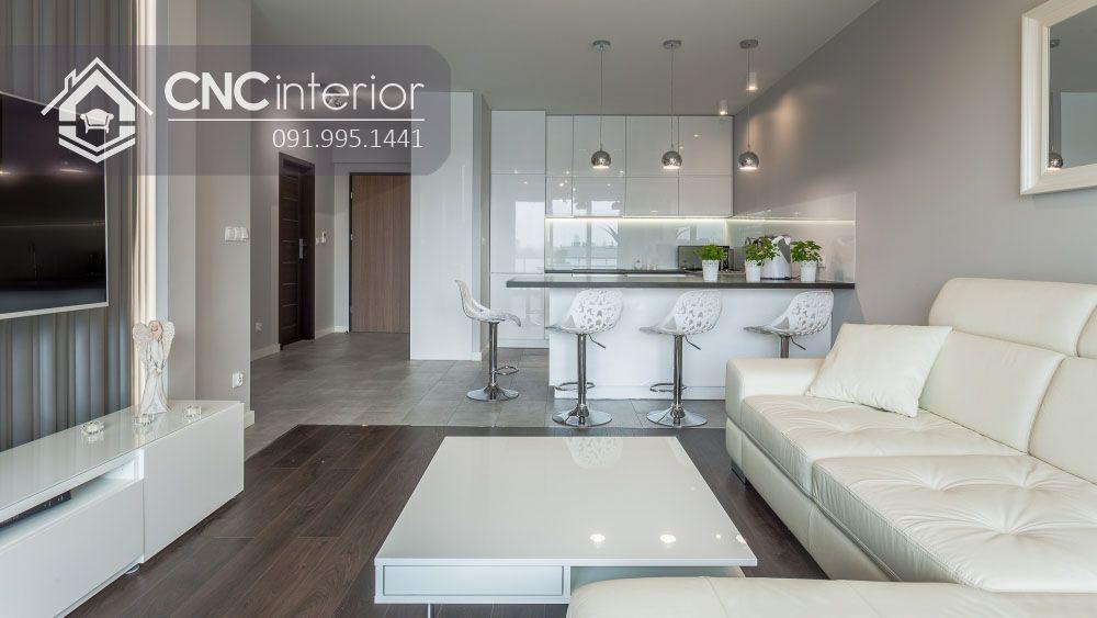 Tủ bếp nhỏ gọn đẹp hiện đại CNC 30 4