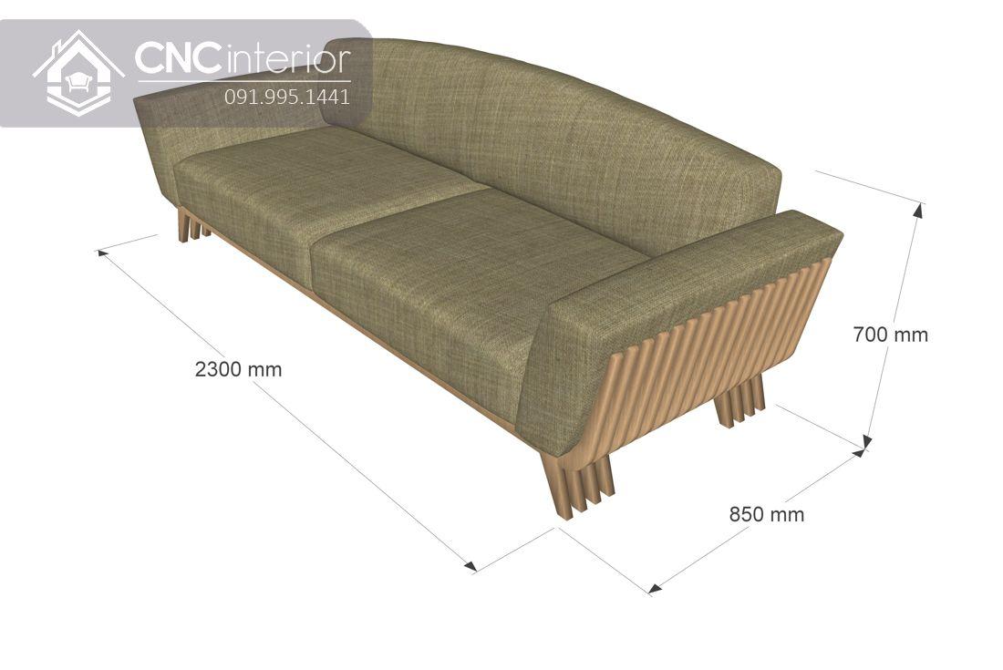 Ghế sofa dài đơn giản phá cách CNC 03 5