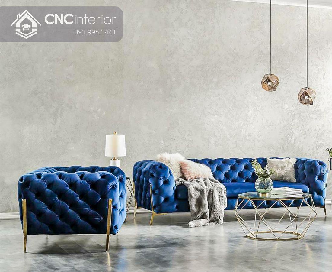 Ghế sofa phòng khách phòng cách tân cổ điển CNC 01