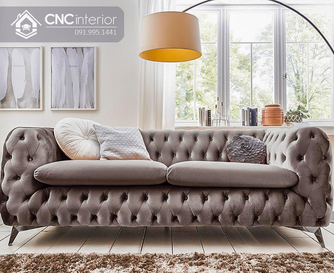 Ghế sofa phòng khách phòng cách tân cổ điển CNC 01 1