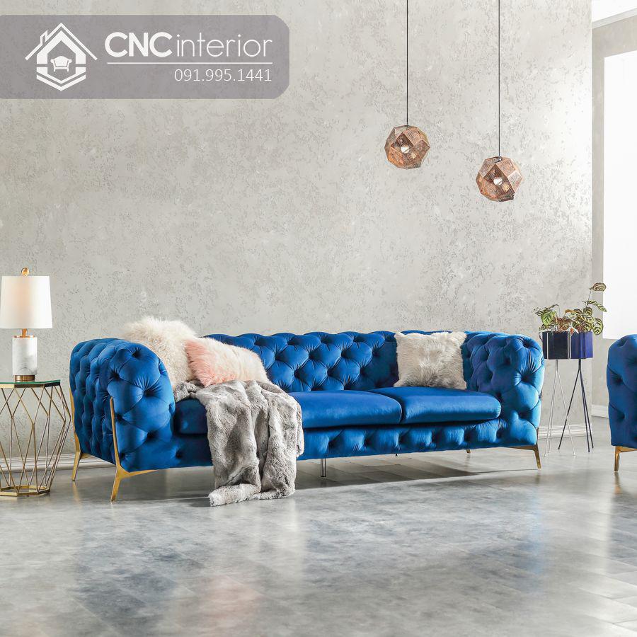Ghế sofa phòng khách phòng cách tân cổ điển CNC 01 2