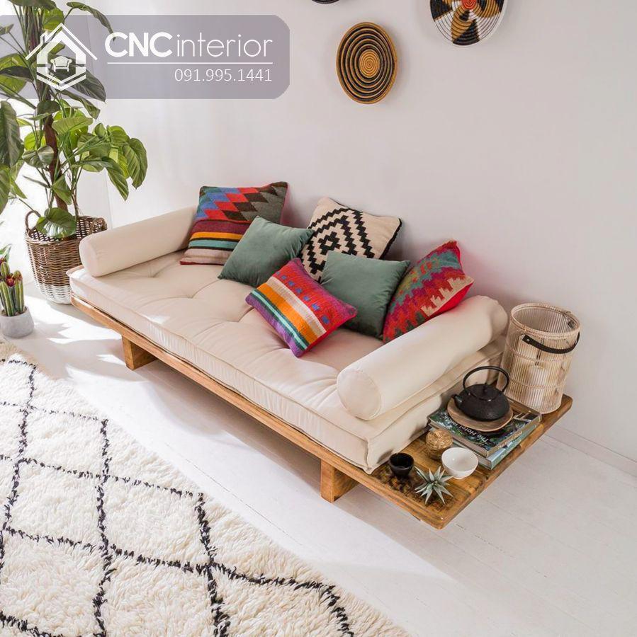 Ghế sofa chữ I phong cách Japandi tối giản CNC 11 2