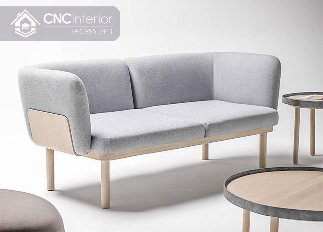 Ghế sofa gỗ sồi đơn giản gọn gàng CNC 13 3