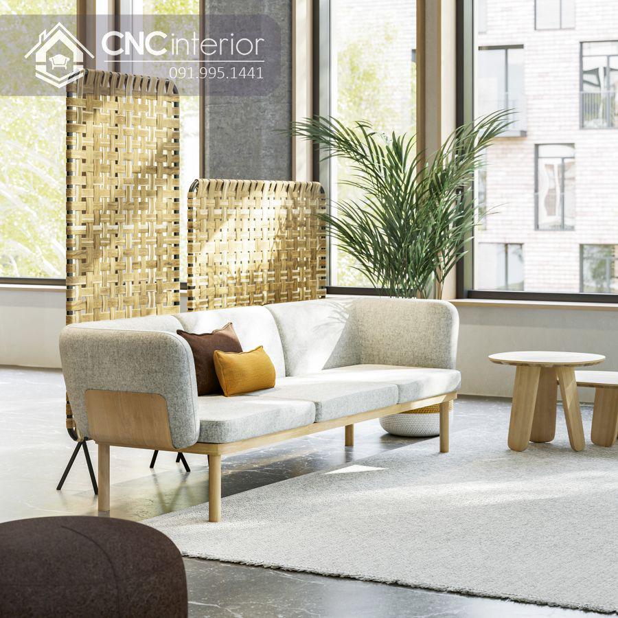 Ghế sofa gỗ sồi đơn giản gọn gàng CNC 13