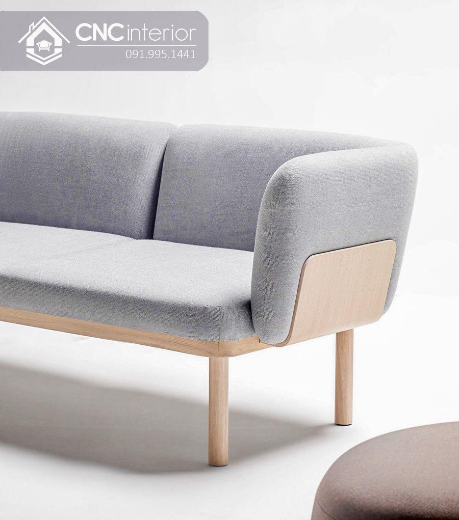 Ghế sofa gỗ sồi đơn giản gọn gàng CNC 13 1