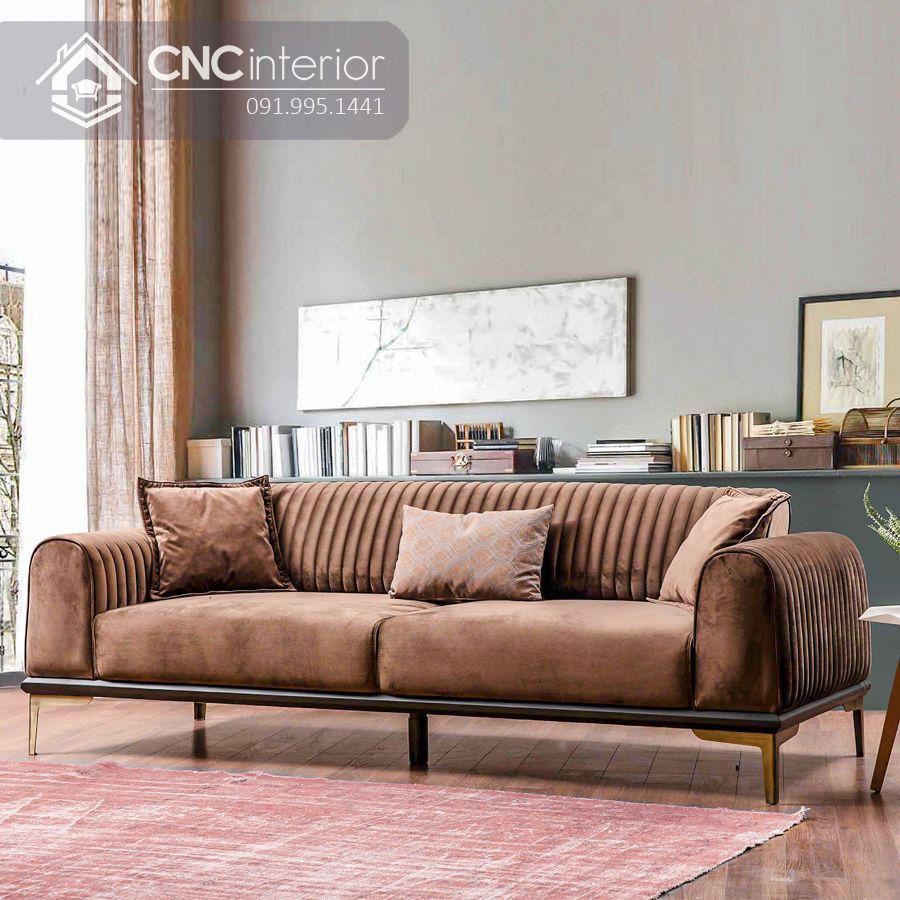 Ghế sofa chữ I đẹp sang trọng CNC 02