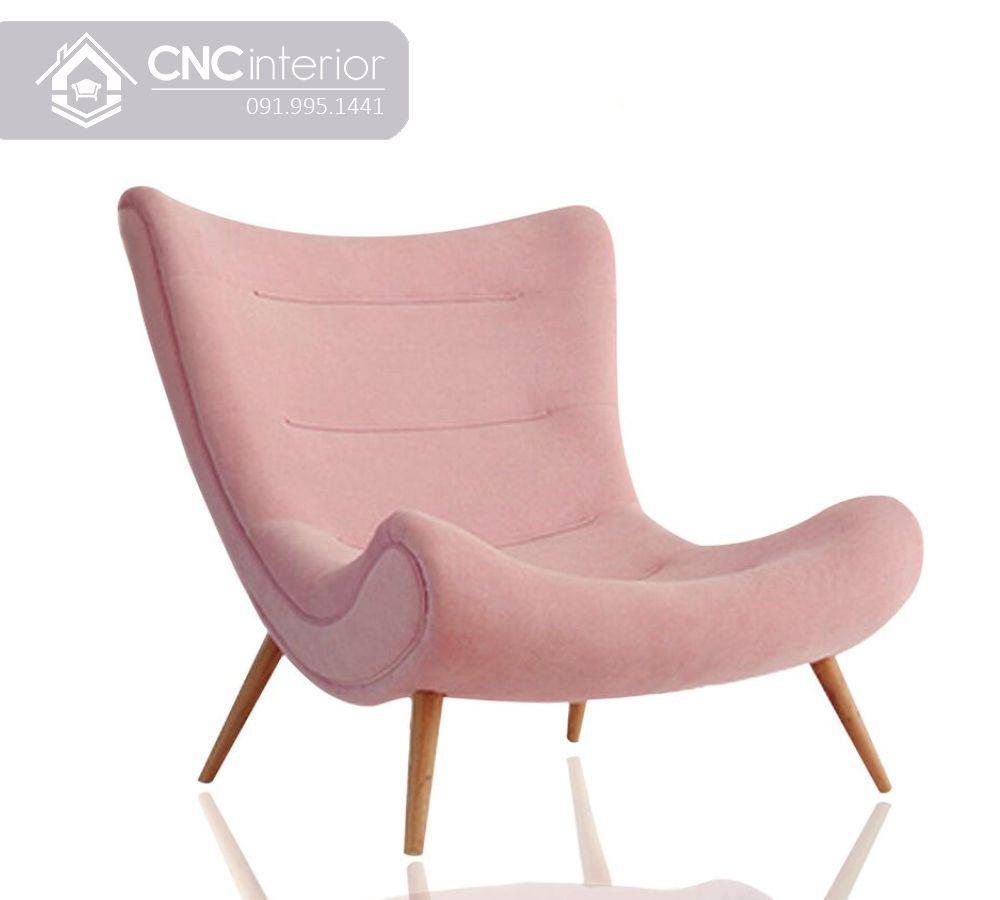Ghế sofa đơn gỗ bọc vải hiện đại CNC 21 2