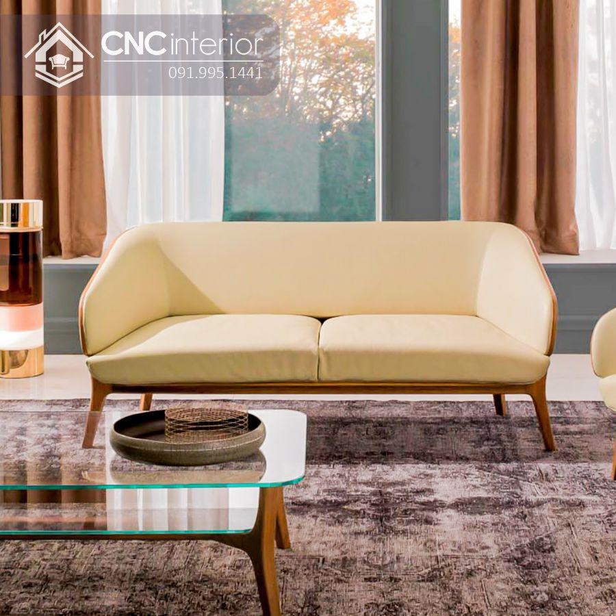 Ghế sofa đôi 2 người ngồi nhỏ gọn CNC 22 1