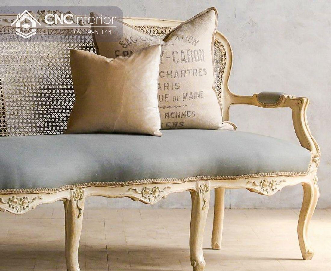 Ghế sofa gỗ sồi sang trọng và thanh lịch CNC 26