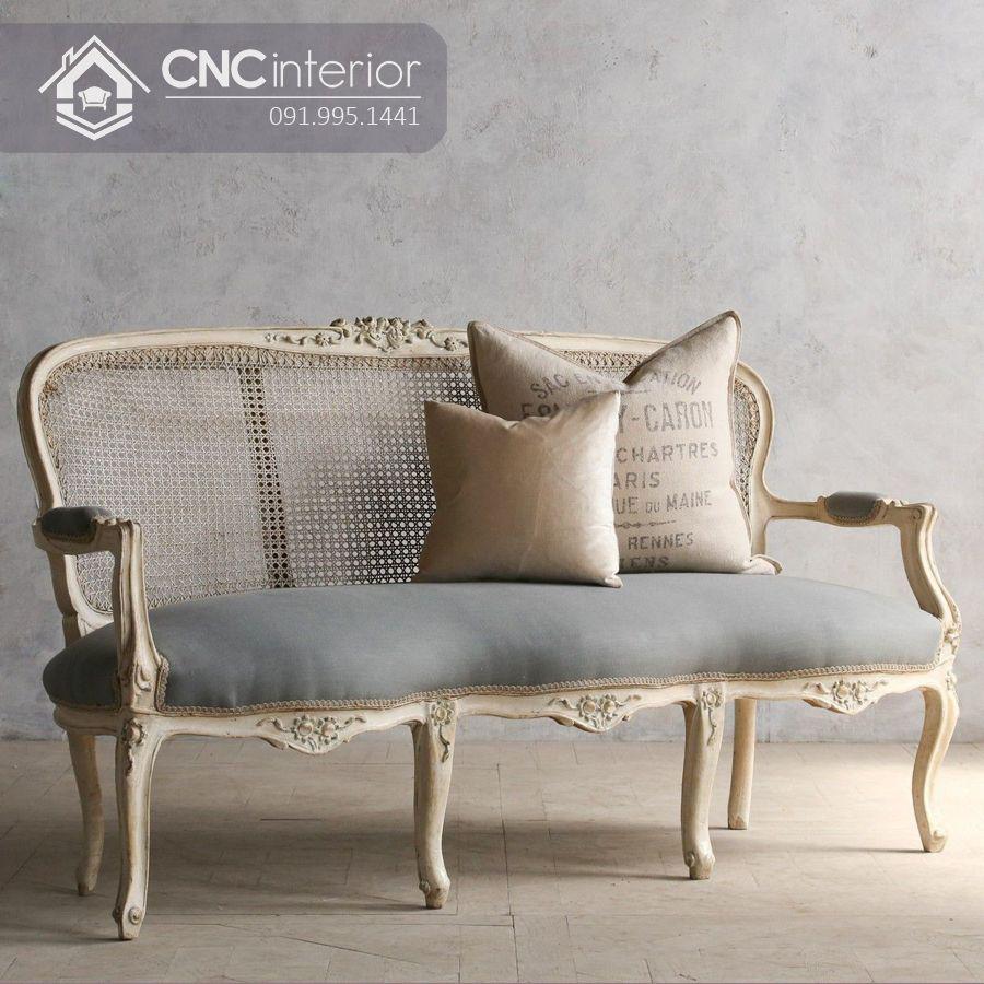 Ghế sofa gỗ sồi sang trọng và thanh lịch CNC 26 1