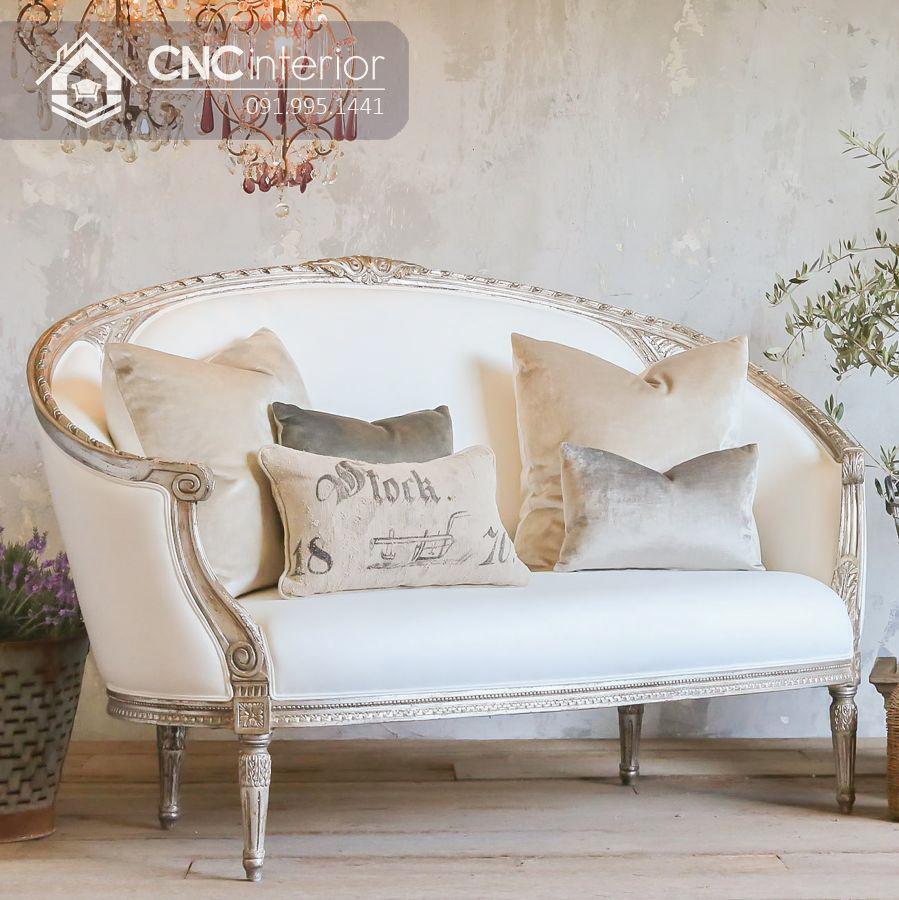 Ghế sofa văng kiểu tân cổ điển hút mắt CNC 28