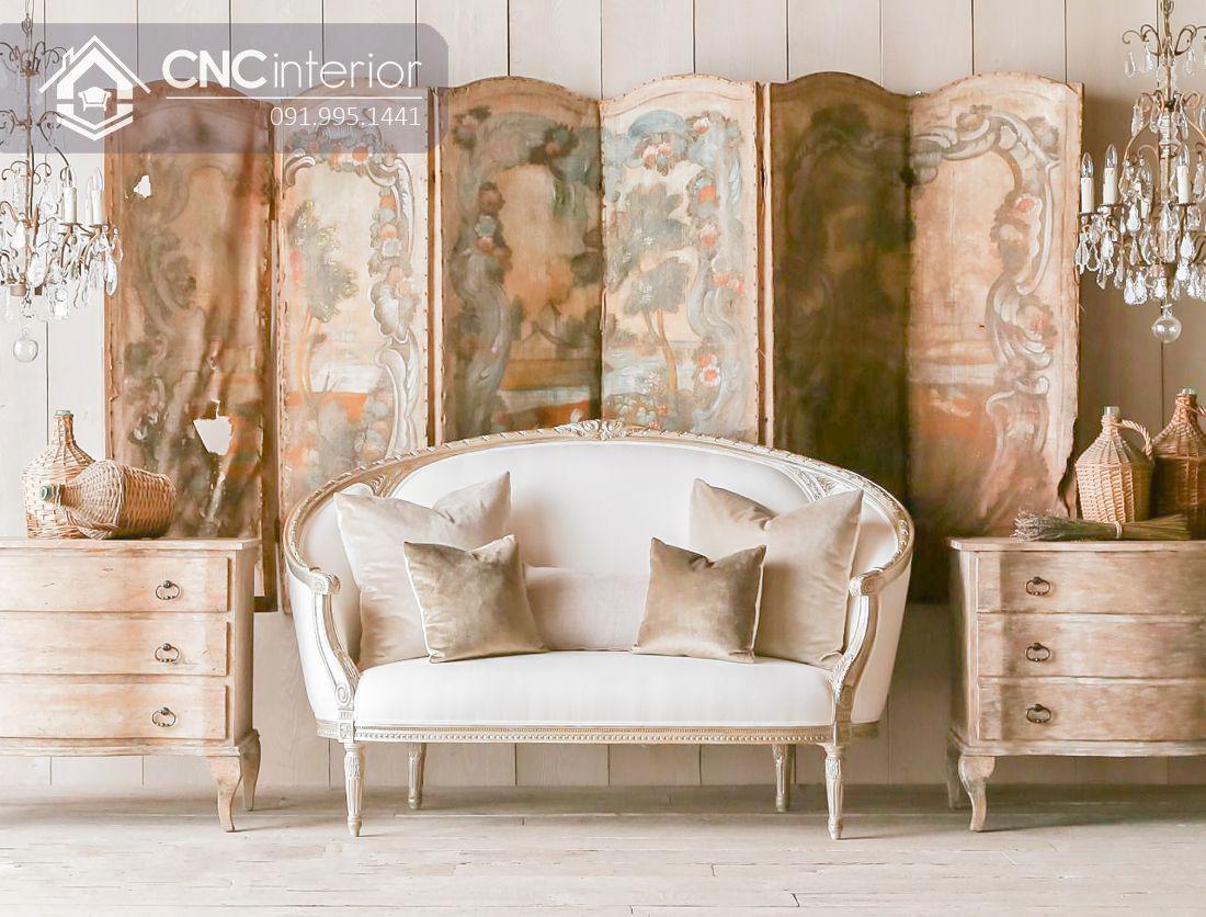Ghế sofa văng kiểu tân cổ điển hút mắt CNC 28 1