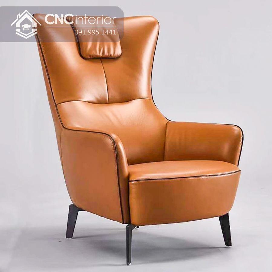 Ghế sofa đơn bọc da cao cấp CNC 29