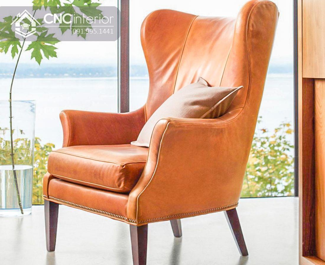 Ghế sofa đơn bọc da cao cấp CNC 29 2