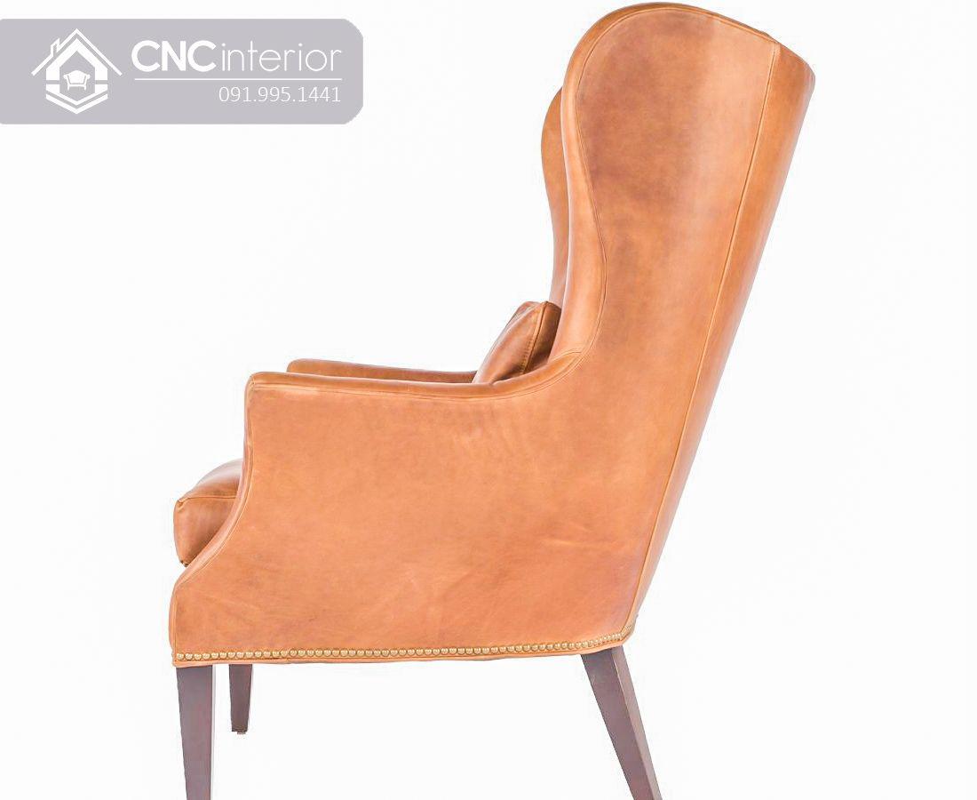 Ghế sofa đơn bọc da cao cấp CNC 29 4