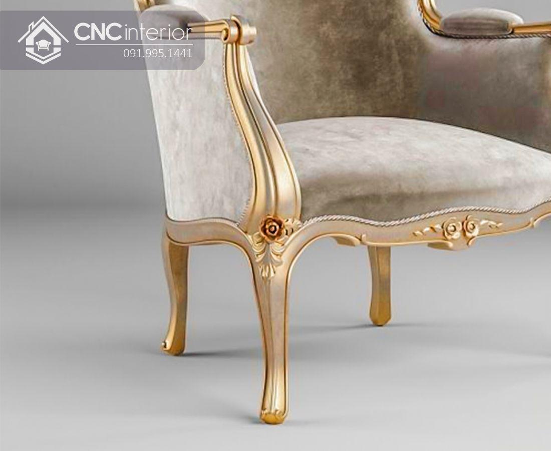 Ghế sofa đơn bọc nhung sang trọng CNC 31