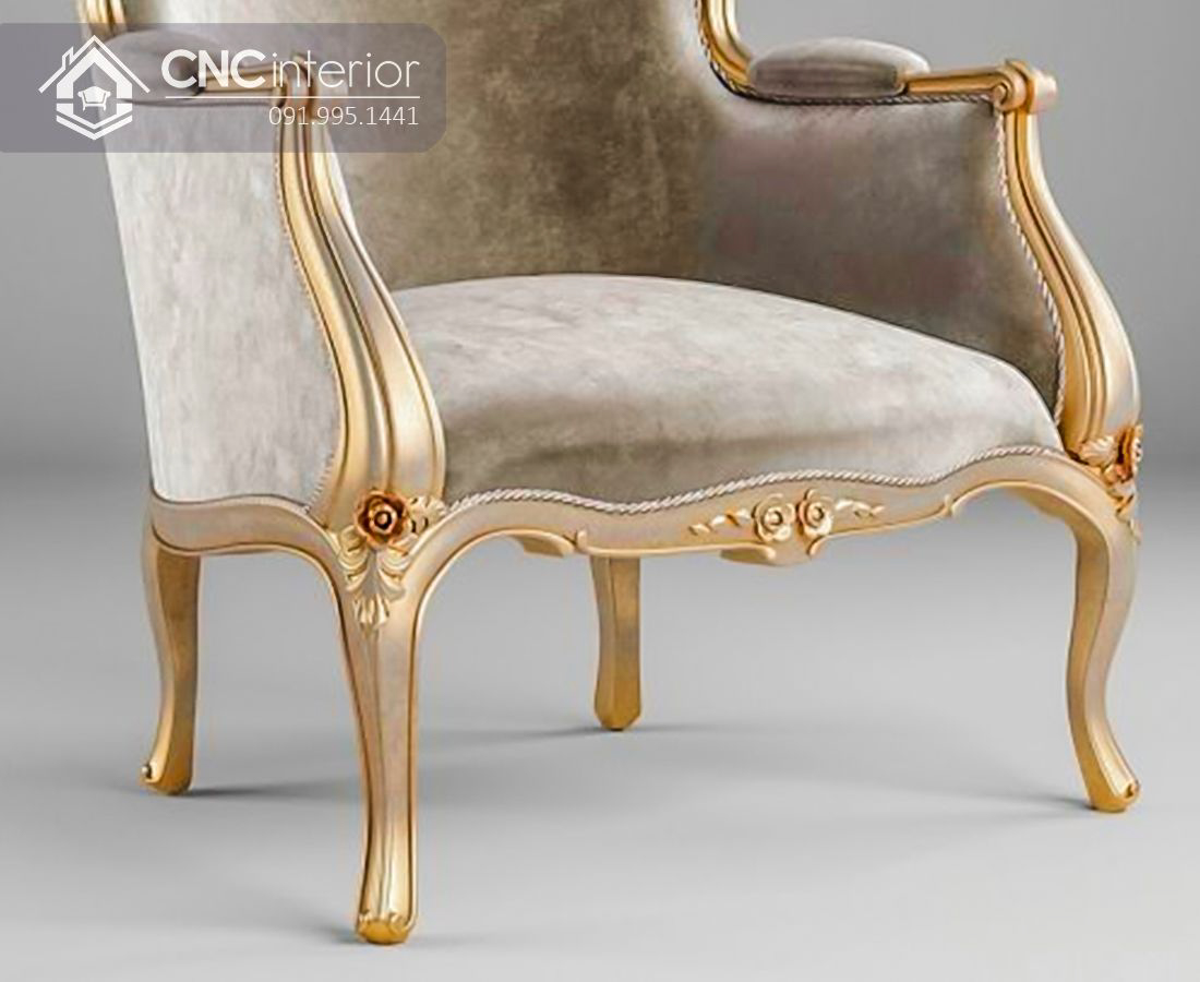 Ghế sofa đơn bọc nhung sang trọng CNC 31 1