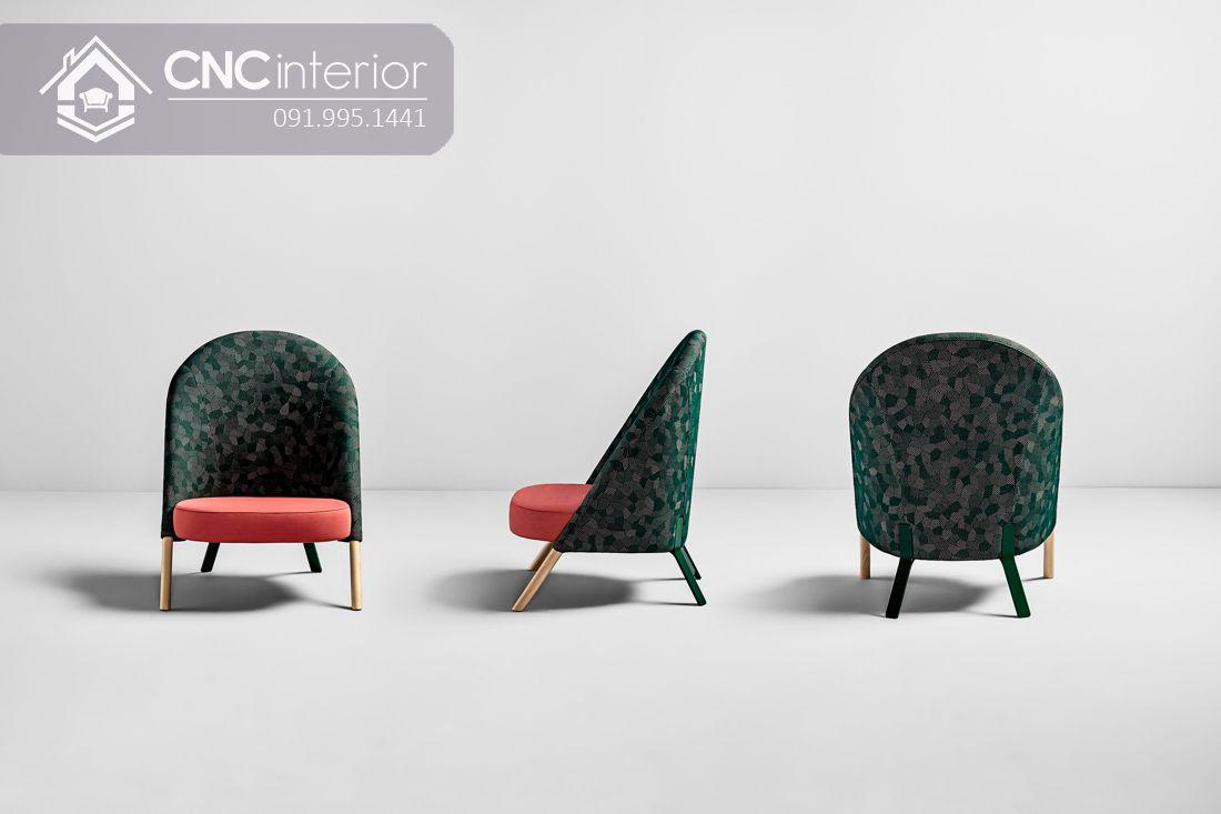 Ghế sofa gỗ bọc vải đẹp đơn giản CNC 34
