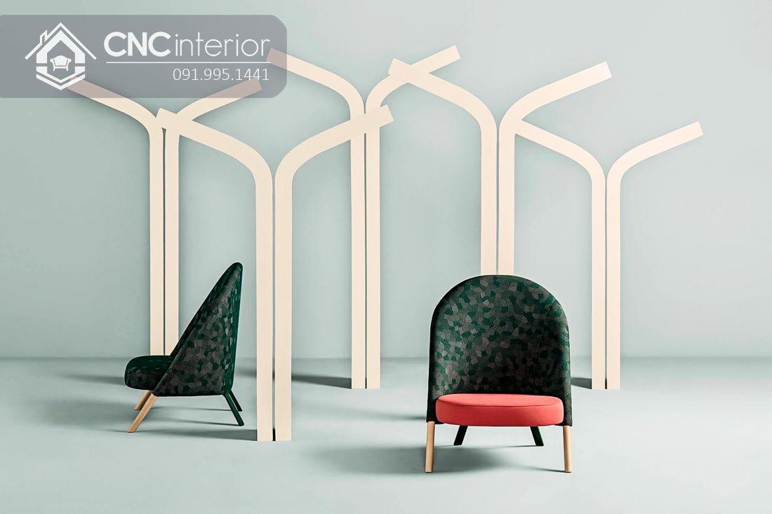 Ghế sofa gỗ bọc vải đẹp đơn giản CNC 34 2