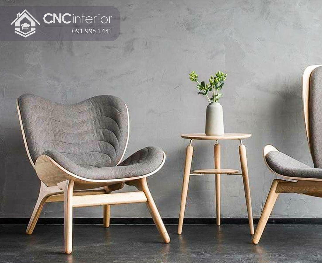 Ghế sofa đơn gỗ sồi cao cấp bền đẹp CNC 05  1