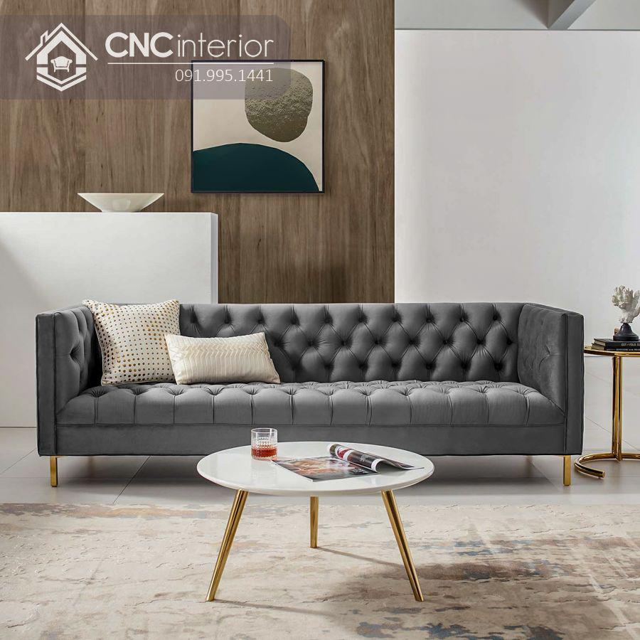 Ghế sofa bọc nhung cáo cấp sang trọng CNC 07