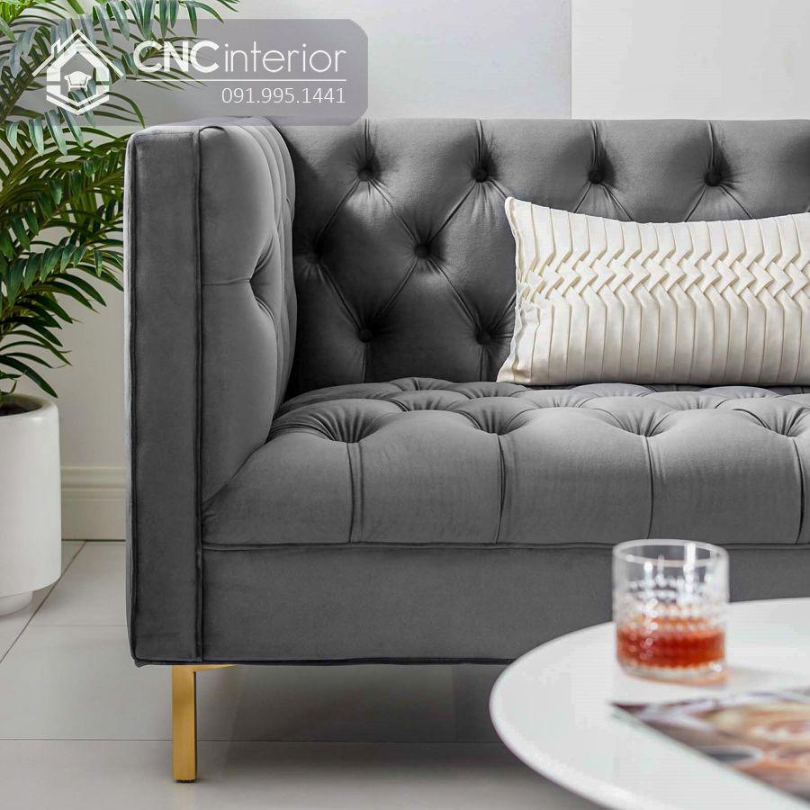Ghế sofa bọc nhung cáo cấp sang trọng CNC 07 1