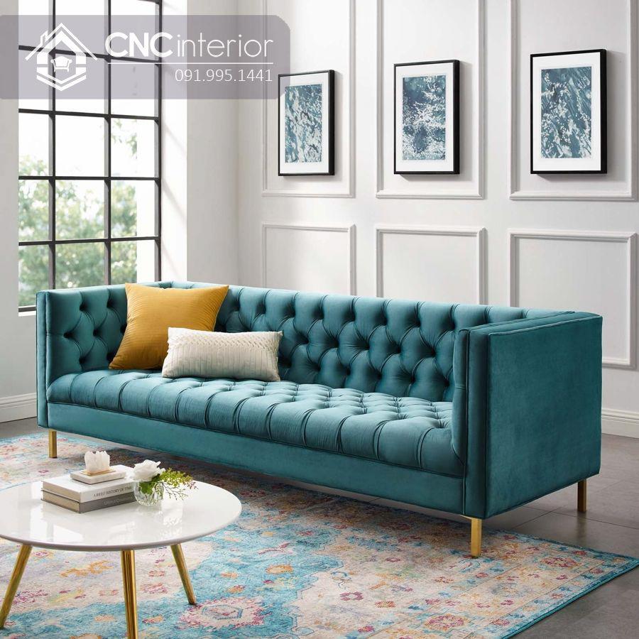 Ghế sofa bọc nhung cáo cấp sang trọng CNC 07 3